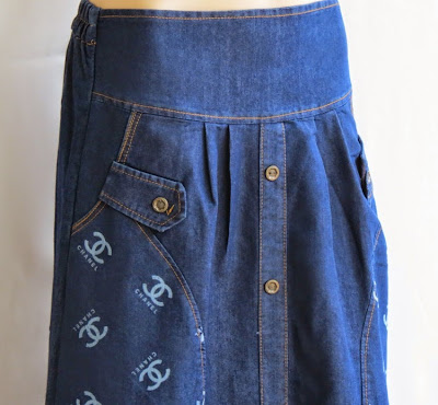Skirt Jeans Printed Channel RM325-1