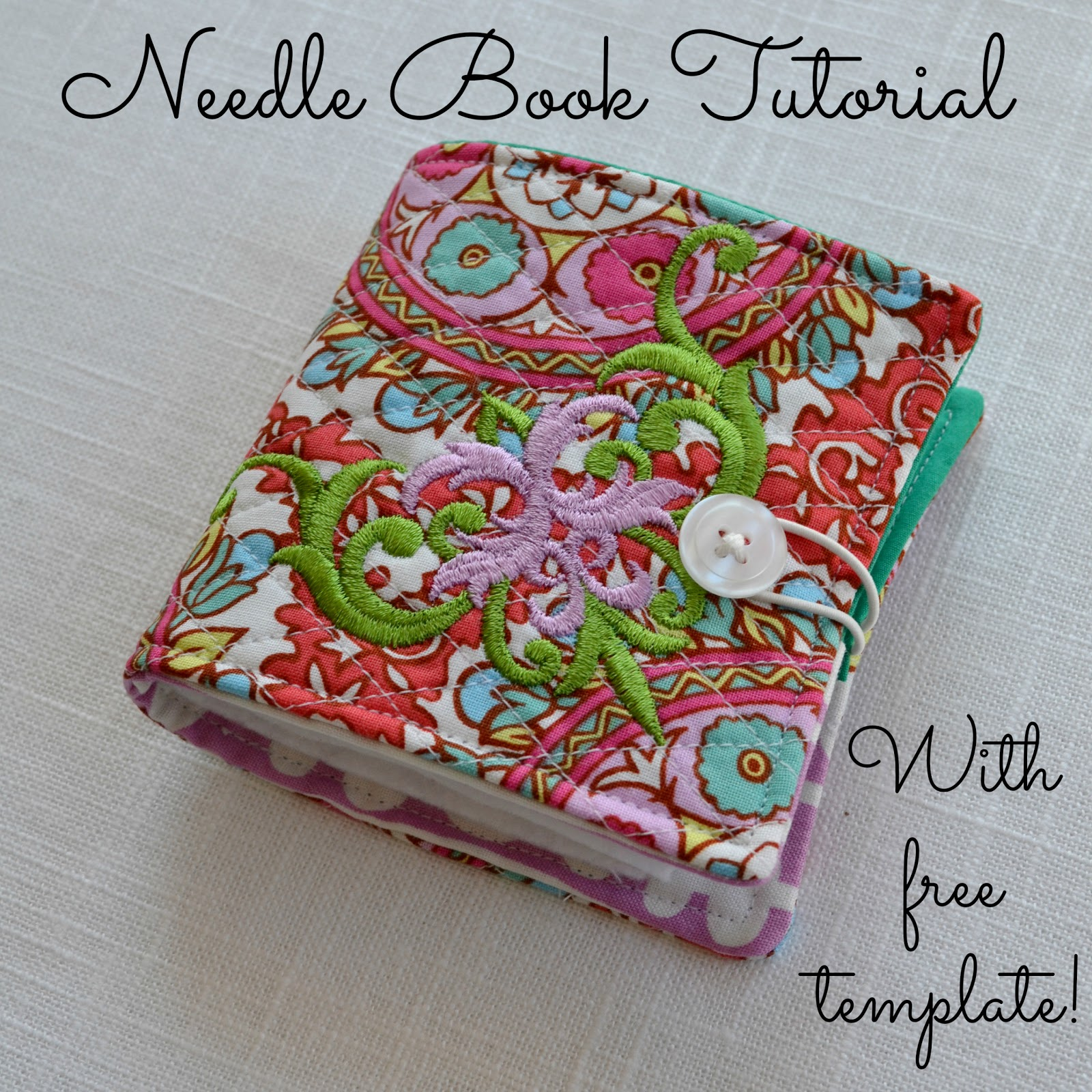 Fabric Book Cover Template : The domestic doozie needle book tutorial with free template