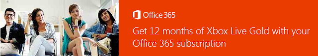 Get 12 months of Xbox Live Gold with your Office 365 Subscription