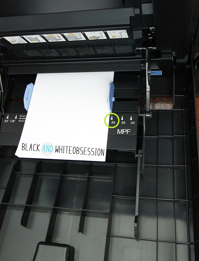 Black and White Obsession | Free Half Size Blogger Planner/ Filofax A5 | Adjust Printer Tray