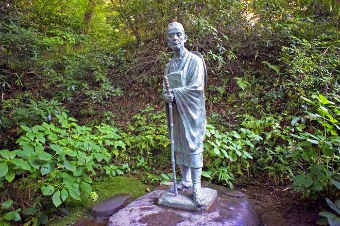statue of Matsuo Bashō in Chusonji, Hiraizumi - Japan
