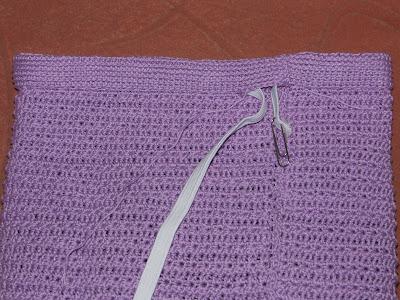 Оформление пояса для вязаной юбки