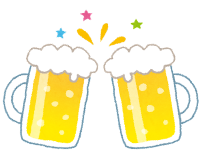 乾杯のイラスト「生ビール」