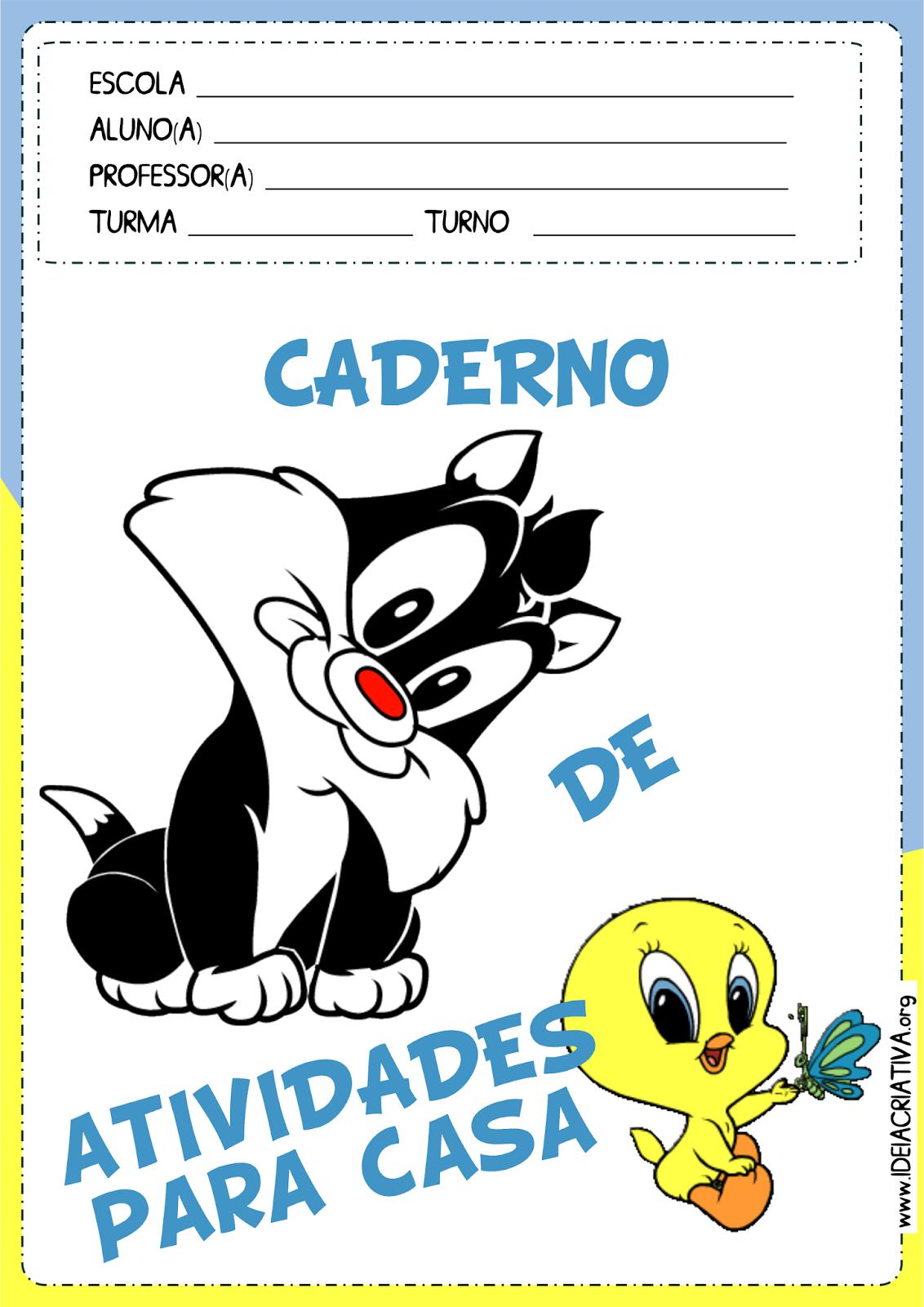 Capa Caderno de Atividades Baby Looney Tunes