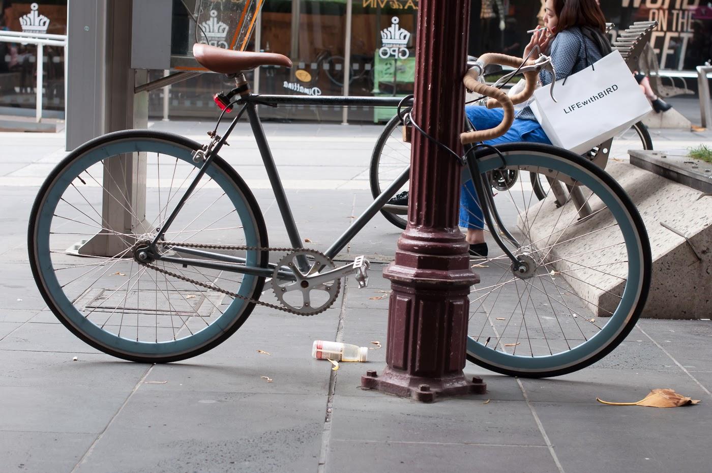 single speed, bike, bicycle, tim macauley, the biketorialist, melbourne, conversion, chain, tensioner road bike,  bourke st, custom, frame