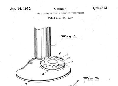 Bissiri dial cleaner Bissiri patent 1927