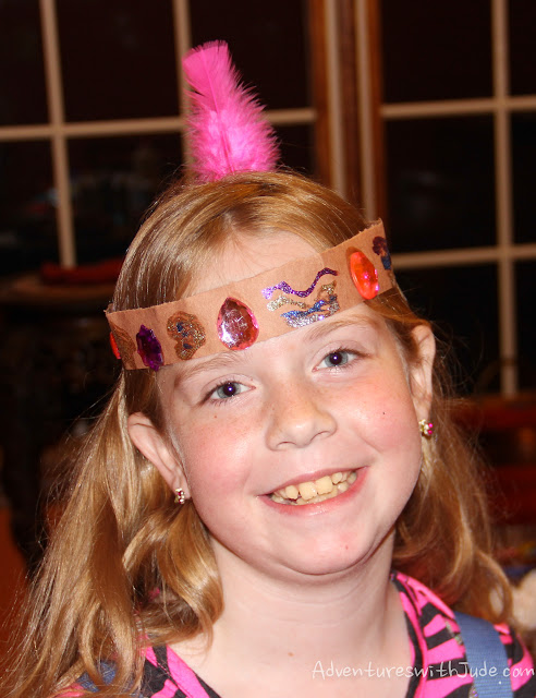 feathered headbands in the style of the Lenape