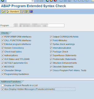 SLIN : ABAP program extended syntax check