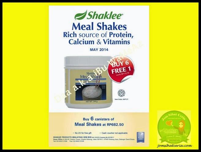 Mealshake, Pengedar Shaklee Kuantan, Produk SHAKLEE, Promosi,