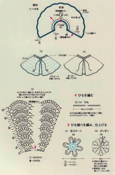 Прелестный комплект для новорожденых: пелерина, шапочка и пинетки крючком