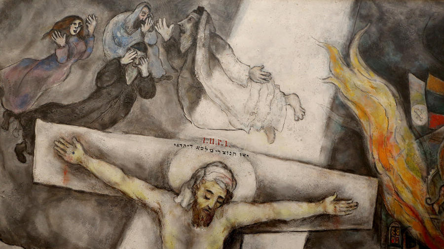 Call Me Jorge...: Chagall's blasphemous White Crucifixion ... Chagall Crucifixion Paintings