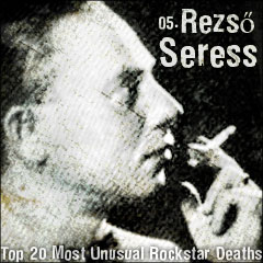 Top 20 Most Unusual Rockstar Deaths: 05. Rezső Seress