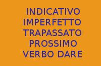 VERBO DARE IN ITALIANO - 10 FRASI CON INDICATIVO IMPERFETTO E TRAPASSATO PROSSIMO