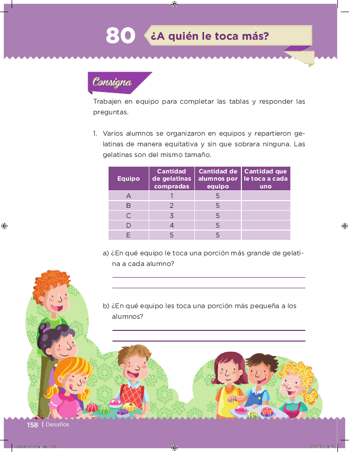 ¿A quién le toca más? - Desafíos matemáticos 5to Bloque 5 2014-2015