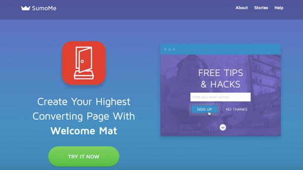 لأصحاب المواقع: أداة Welcome Mat لشدِّ انتباه زوار موقعك