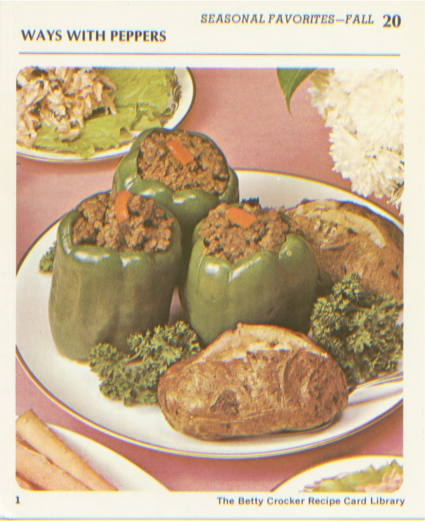 Retro recipes stuffed peppers recipe by betty crocker stuffed peppers recipe by betty crocker forumfinder Images