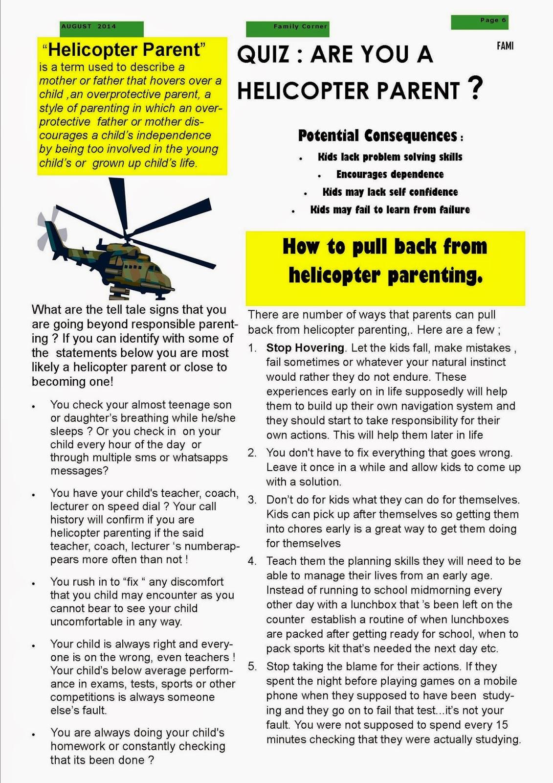 helicopter parent quiz