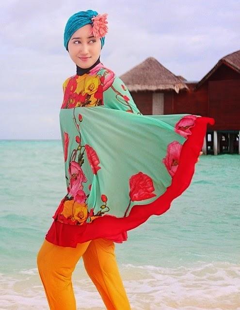 contoh baju renang muslimah