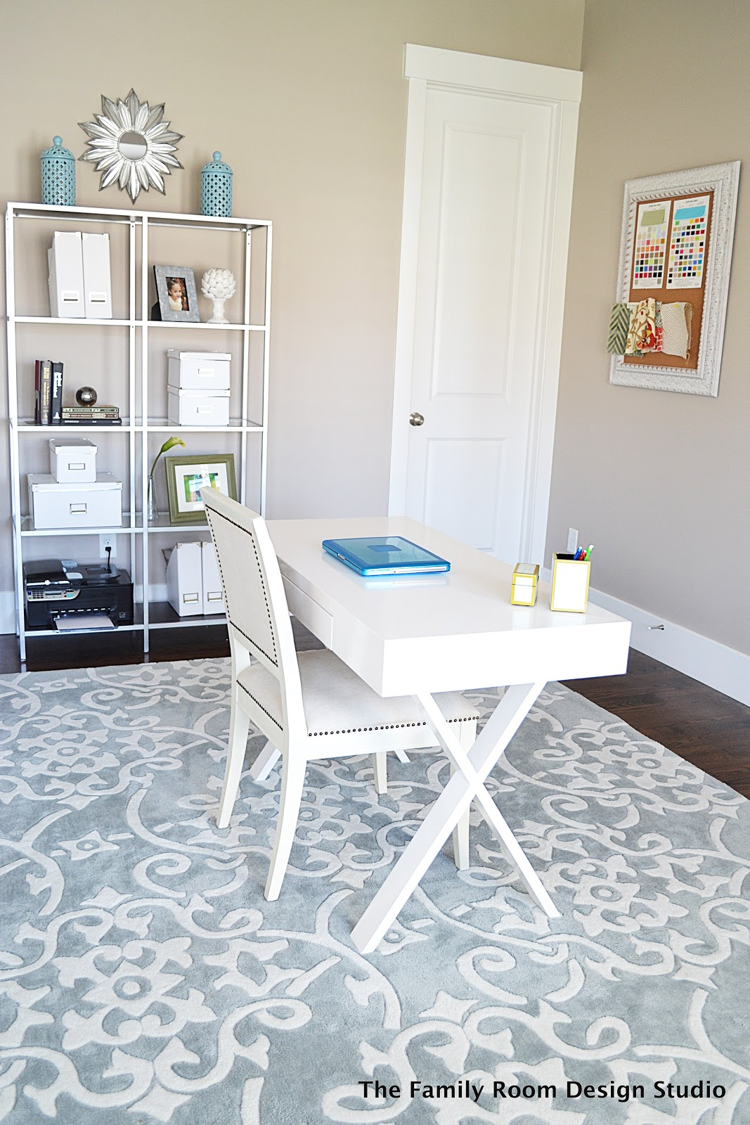 My New Home Office Progress and an Ikea Hack - Sita Montgomery Interiors