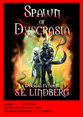 Spawn of Dyscrasia - S.E. Lindberg - Covert Art by Ken Kelly 2013