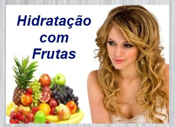 hidratação com frutas para cabelos secos