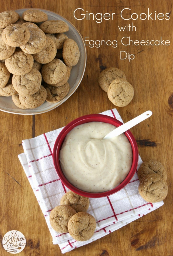 http://www.a-kitchen-addiction.com/soft-baked-ginger-cookies-with-eggnog-cheesecake-dip/