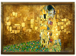 Google Doodle the kiss on 14 july Gustav Klimt birth day