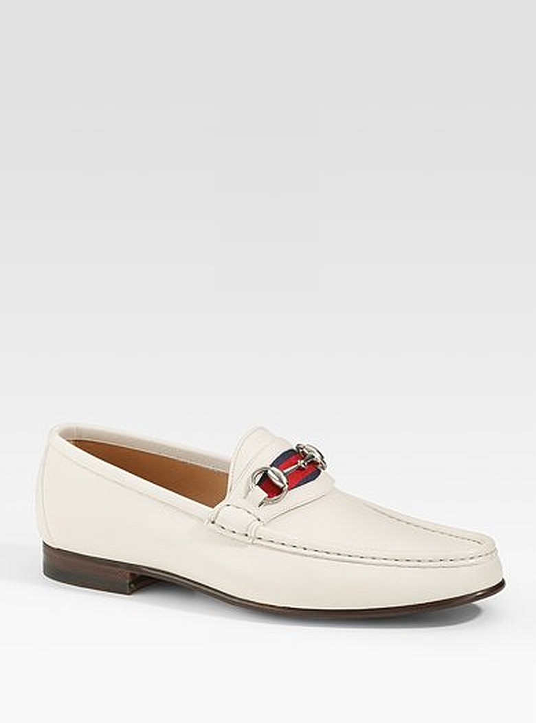 White Gucci Loafers Colour Pureness Pinterest