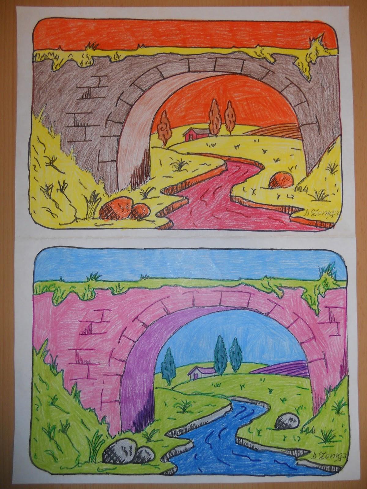La f brica de genios ceip juan gris paisaje fr o y c lido - Paisaje con colores calidos ...