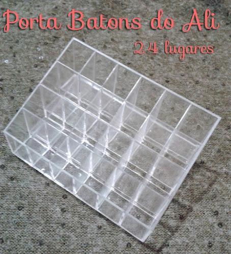 Porta Batons de Acrílico do AliExpress