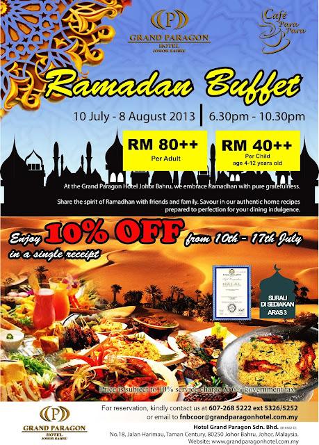 Grand Paragon Hotel Johor Bahru Buffet Ramadhan 2013