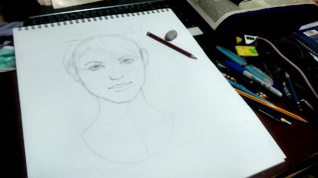 Retrato en proceso