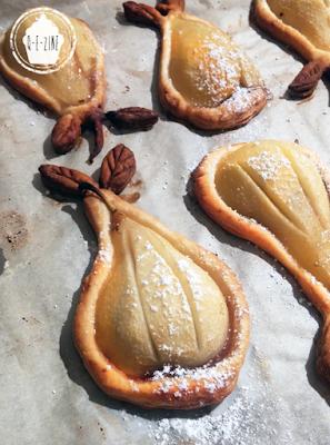 tartelettes aux poires et coeur de crème de marron