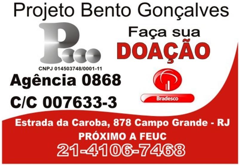 Projeto Bento Gonçalves DOAÇÕES VOLUNTÁRIAS