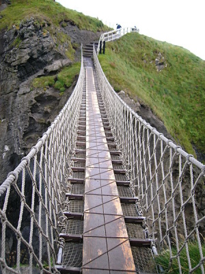 Cope-on-a-Rope: Carrick-a-Rede Rope Bridge, Antrim, North Ireland