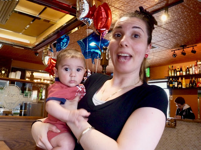 waitress and baby nephew