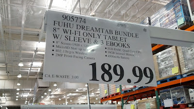 Fuhu Nabi Dreamtab HD8 bundle comes with Sleeve and 3 ebooks at Costco