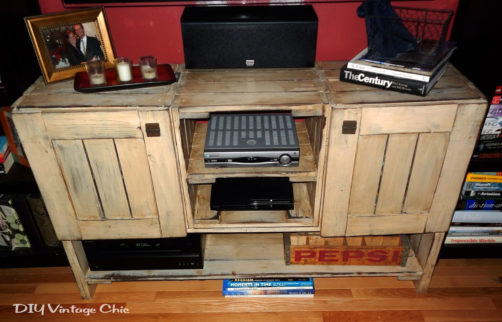 Diy rustic tv stand plans woodguides for How to make tv cabinet