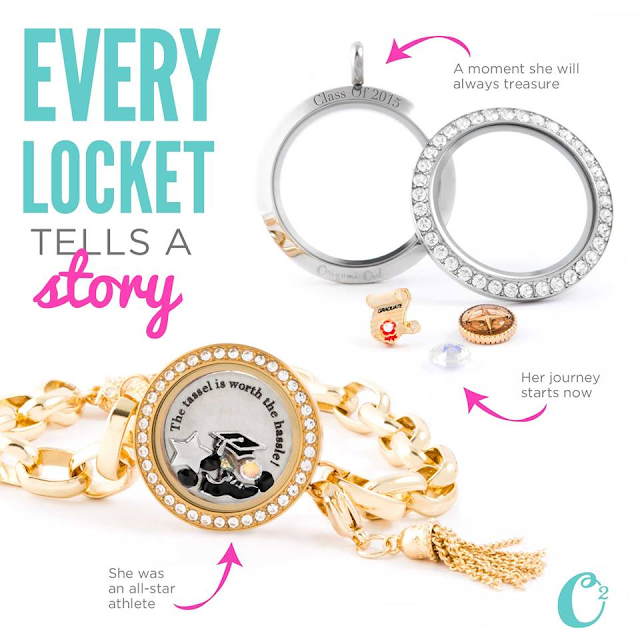 Graduation Origami Owl Living Locket available at StoriedCharms.com