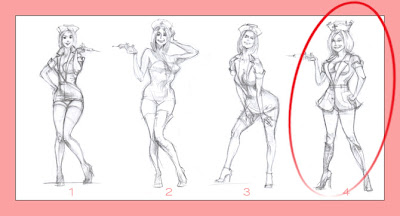 pin up nurse sketches