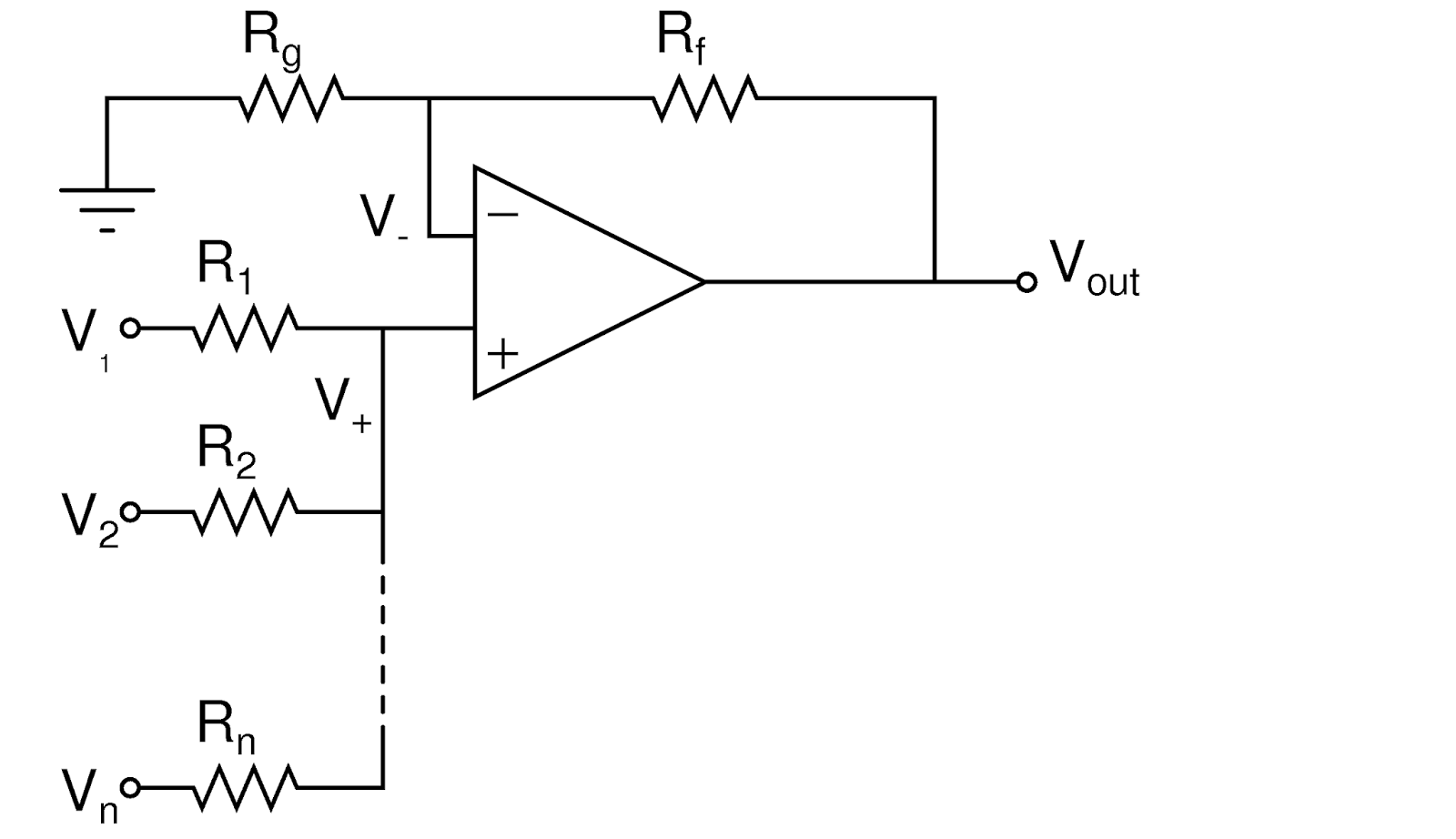 electronics evolution  non inverting summing amplifier
