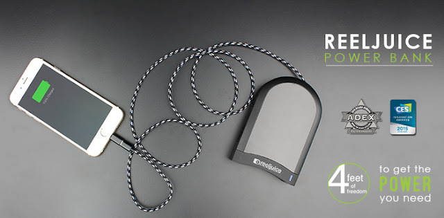 Reeljuice Portable Power Bank, 4 Feet of Freedom to get the power you need