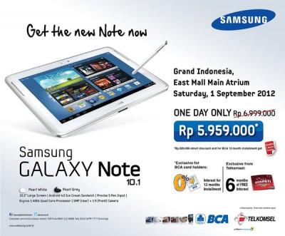 Samsung Galaxy Note 101 Harga Spesifikasi