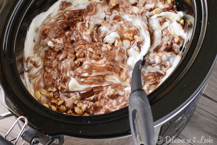 Crock Pot Peanut Cluster Candy  /  Delicious as it Looks