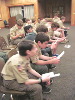 Lowcountry area scouts decoding Braille