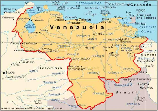 Mapa de venezuela con sus limites geograficos - Imagui