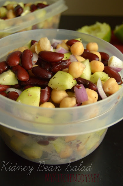 cucumber ,kidney bean and chickpea salad2