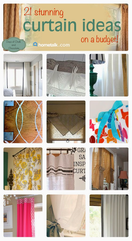 hometalk curtain roundup DIY cheap