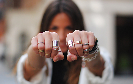"""In The Spotlight: Ring-Stacking Strategy"" Post on The Wind of Inspiration Blog (How To Stack Your Rings) #style #fashion #rings #stackingrings #howto"