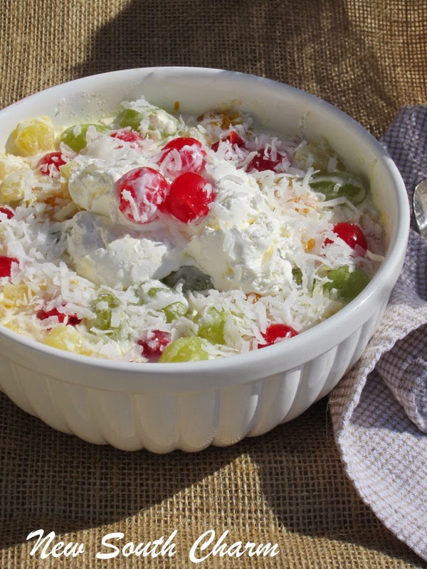 Holiday Ambrosia Salad by New South Charm